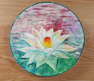 Aurora Lotus Flower Plate