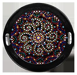Aurora Mosaic Mandala Tray