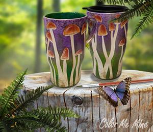 Aurora Mushroom Mugs